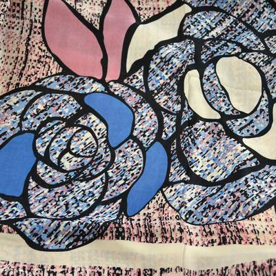 Maxi šátek - růžový se vzorem - 2