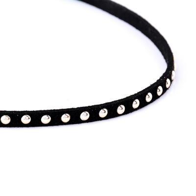 Náhrdelník choker 34ac001-70i - černé cvočky - 2
