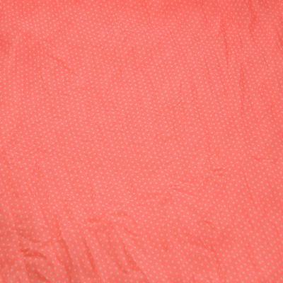 Šála bavlněná Classic 69cl003-27 - jasně růžová puntíkovaná - 2