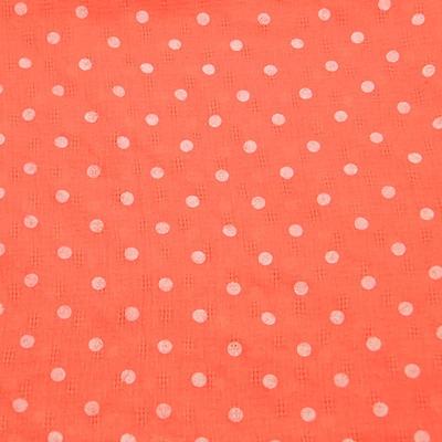 Šátek bavlněný 63sk003b-11.01 - oranžový s bílými puntíky - 2