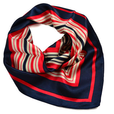 Jewelry scarf Stewardess - blue and red - 2