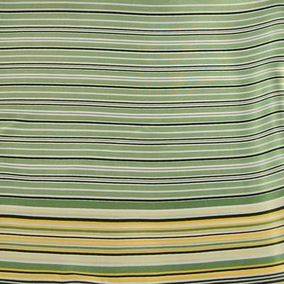 Šátek saténový 63sk003-51 - světle zelený pruhovaný - 2