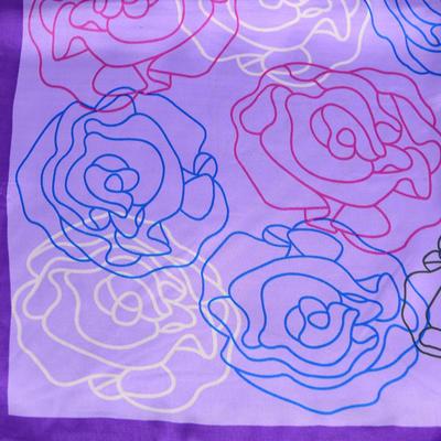 Small neckerchief 63sk004-33 - violet - 2