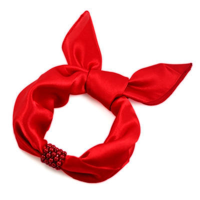 Jewelry scarf Stewardess Light - red - 2