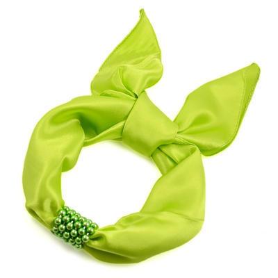 Šátek s bižuterií Letuška - zelený - 2