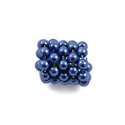 Šátek s bižuterií Letuška - modrý - 2