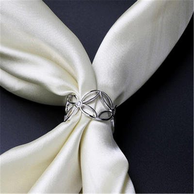 Spona na šátek - stříbrná - 2