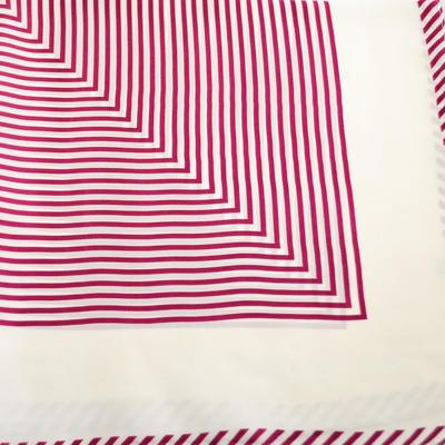 Šátek - bíločervený s pruhy - 2