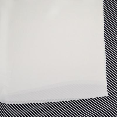 Šátek - černo-bílý s pruhy - 2