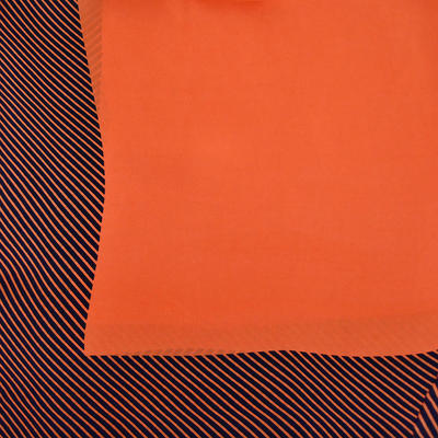 Šátek - oranžový s pruhy - 2