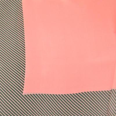 Šátek - růžový s pruhy - 2