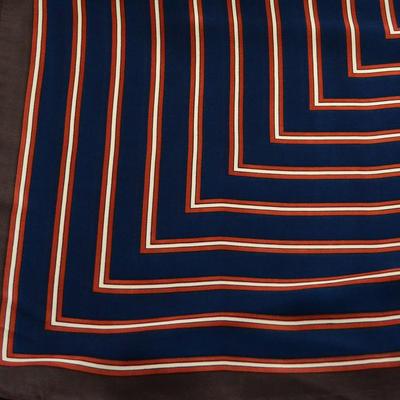 Šátek - modrohnědý s pruhy - 2