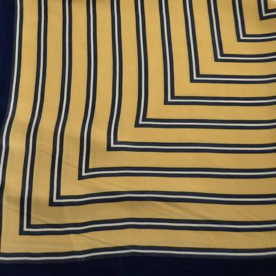 Šátek - zlatomodrý s pruhy - 2