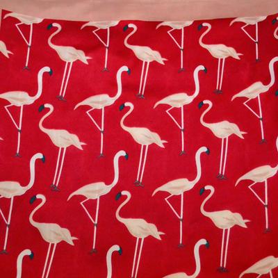 Šátek - červené plameňáci - 2