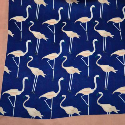Šátek - modré plameňáci - 2