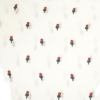 Šátek - bílý s potiskem - 2