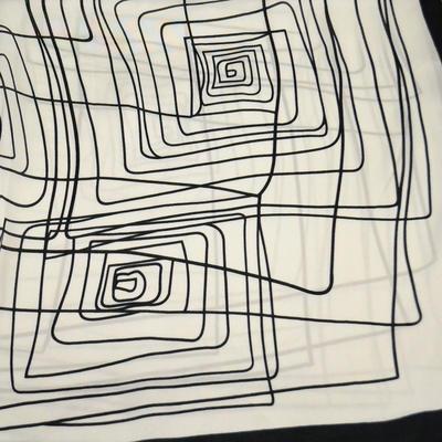 Šátek - bíločerný - 2
