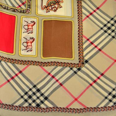 Šátek - hnědý s potiskem - 2