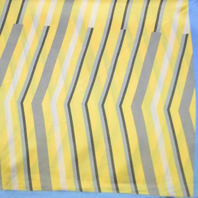 Šátek saténový - žlutomodrý s pruhy - 2