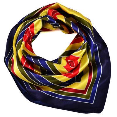 Šátek s bižuterií Letuška - modrožlutý - 2