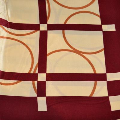 Šátek saténový - hnědobéžový - 2