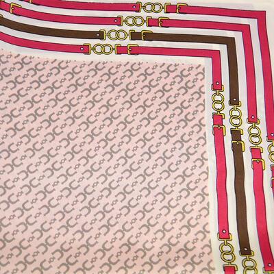 Šátek saténový - růžovo-bílý - 2