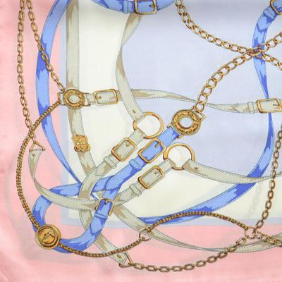Šátek saténový - růžovo-fialový - 2