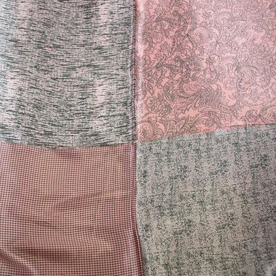 Šátek saténový - růžový s potiskem - 2