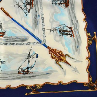 Šátek saténový - modrobílý - 2