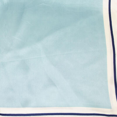 Šátek saténový - modro-bílý - 2