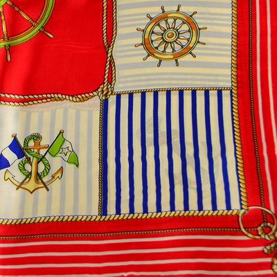 Šátek saténový 63sk014-20.01 - červenobílý námořnický - 2