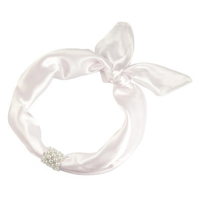 Šátek s bižuterií Letuška - bílý - 2