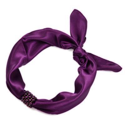 Šátek s bižuterií Letuška- fialový - 2
