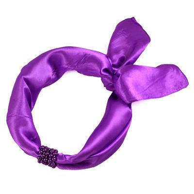Šátek s bižuterií Letuška - jasně fialový - 2