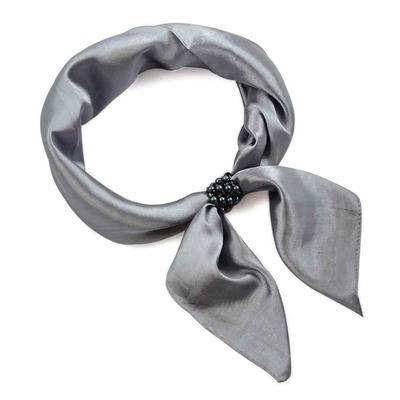 Spona na šátek 100sp75.70 - šedočerná - 2