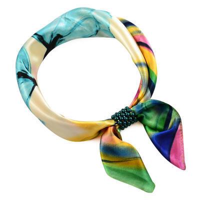 Spona na šátek - zelená - 2