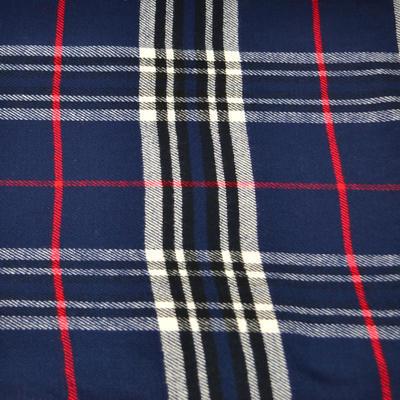 Teplá šála 69cz013-30 - modrá kostkovaná - 2