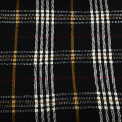Teplá šála 69cz013-70 - černá kostkovaná - 2