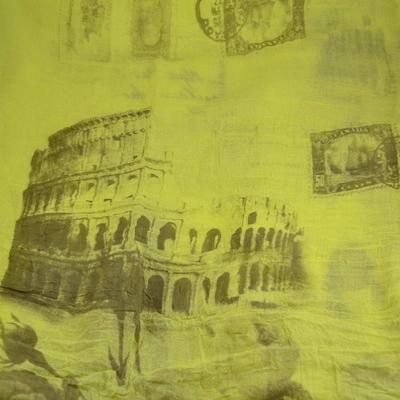 Tunelová šála 69tu004-10.18tm - žlutý Řím - 2