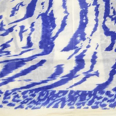Tunelová šála 69tu007-01.30a - bílo-modrá zebra - 2