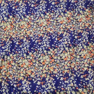 Tunelová letní šála 69tl004-30.14 - modrá s drobnými květinami - 2