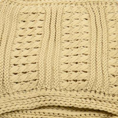 Tunelová pletená šála 69tz001-14e - béžová - 2