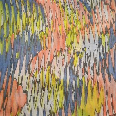 Tunelová šála 69tu009-02 - barevná, pruhované vlny - 2