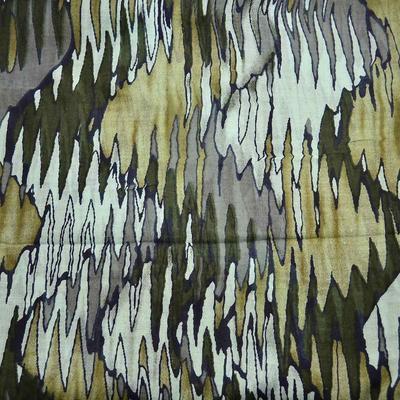 Tunelová šála 69tu009-52a - zelená, pruhované vlny - 2