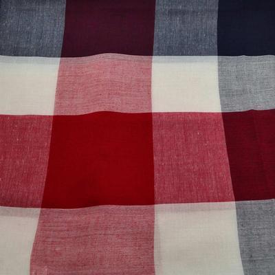 Velký šátek 69pl013-30.20 - modročervená kostka - 2