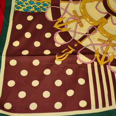 Velký čtvercový šátek - hnědý - 2