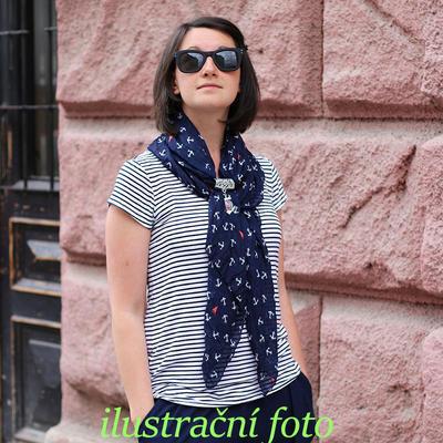 Přívěsek na šálu up100-31a - bledě modrá kotva - 3