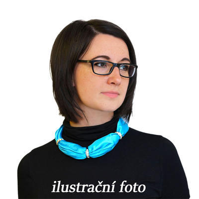 Šátek s bižuterií Sofia 245sof001-30 - modrý - 3