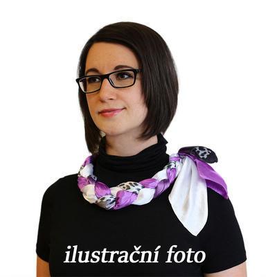 Šátek-náhrdelník Florina 299flo009-33.01 - fialovobílý - 3
