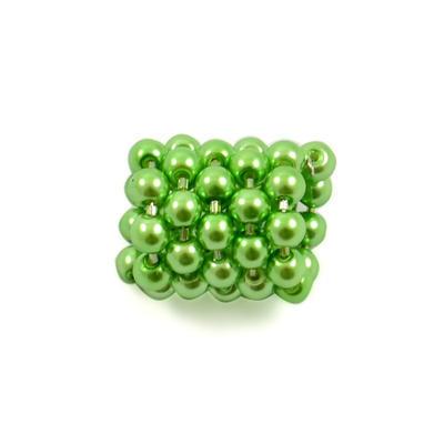 Šátek s bižuterií Letuška - zelený - 3